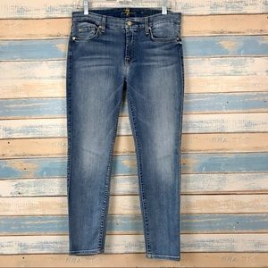 [ 7FAM ] The Cropped Skinny Light Wash Jeans